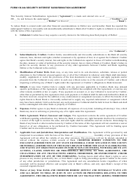 """Security Interest Subordination Agreement Template"""