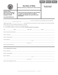 "Form VSD333.4 ""Odometer Disclosure Statement for Title Transfers"" - Illinois"