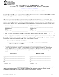 """""""Application and Agreement for Partial Transfer of Experience Rating Record"""" - Louisiana"""
