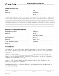 Form 4312 No Fault Insurance Form - Montefiore - New York City