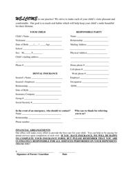 Dental Patient Intake Form