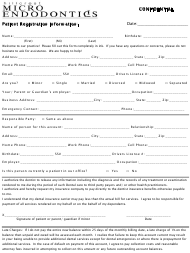 """Patient Registration Form - Hillcrest Micro Endodontics"""