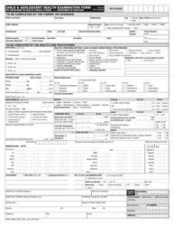 Form 205 Child and Adolescent Health Examination Form - New York City