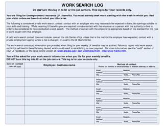 """Work Search Log"" - Alaska"