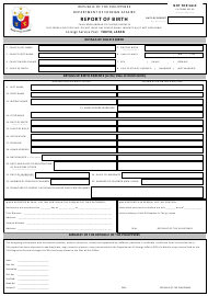 "FA Form 40 ""Report of Birth"" - Philippines"