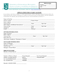 Application for Aviary License - Rhode Island