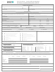 "Form ACD-31075 ""Business Tax Registration Update"" - New Mexico"