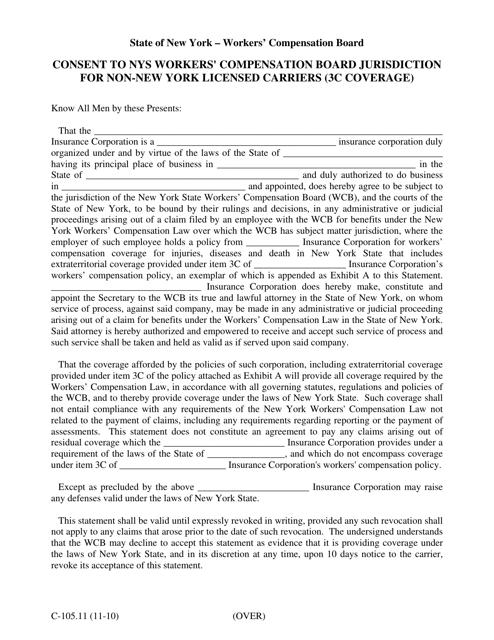 Form C-105.11  Printable Pdf