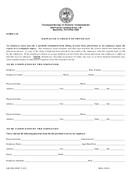 "Form C-42 (LB-0382) ""Employee's Choice of Physician"" - Tennessee"