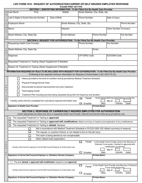 Form 1010 Printable Pdf