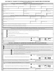 """Form 1010 """"Request of Authorization/Carrier or Self Insured Employer Response"""""""