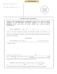 """Subordination Agreement Template"" - California"