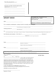 Grant Deed Form - California