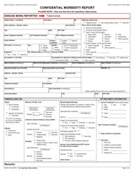Form CDPH 110b Confidential Morbidity Report - California