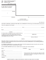 "Form 0500 ""Satisfaction Release of Judgement"" - Cook County, Illinois"