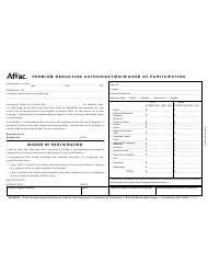 Form M 0083b1 Premium Deduction Authorization - Aflac - Georgia