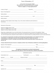 Aurora Building Permit Application