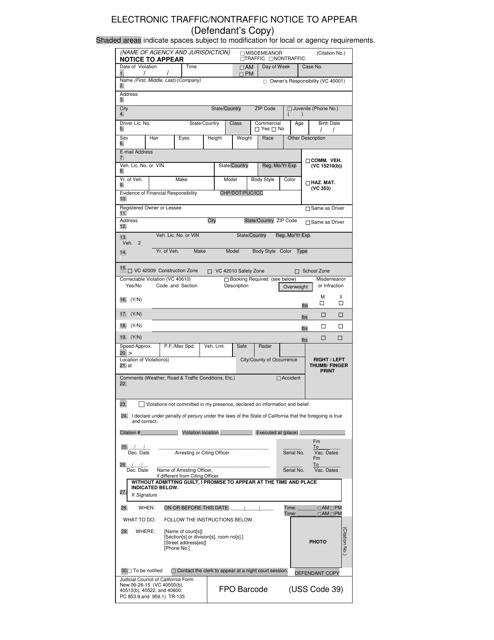Form TR-135  Printable Pdf