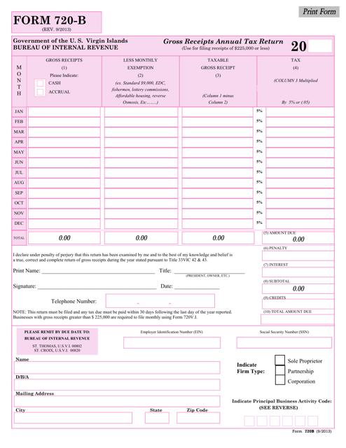 Form 720-b Fillable Pdf