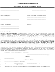 """Summons of Continuing Garnishment for Support Form"" - Cobb County, Georgia (United States)"