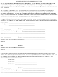 LIHTC Demographic Data Release Consent Form