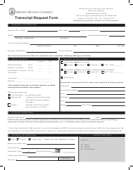 Transcript Request Form - Western Michigan University - Michigan