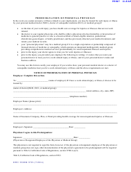 "Form 9783 ""Predesignation of Personal Physician"" - California"