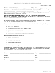 Agreement Template Between Builder and Purchaser(S)