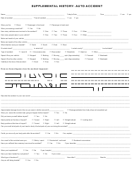 """Auto Accident Form - Supplemental History"""