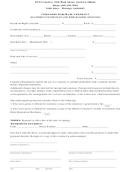 Cemetery Purchase Contract Template - Alliance of Illinois Cemeterians - Illinois