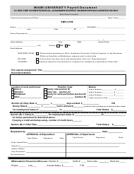 """Payroll Document Form - Miami University"" - California"