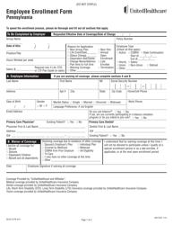 "Form 450-3730 ""Employee Enrollment Form - Unitedhealthcare"" - Pennsylvania"