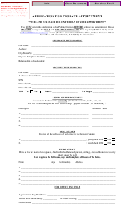 """Application for Probate Appointment"" - Norfolk, Virginia"