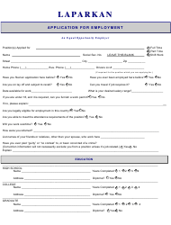 Application for Employment - Laparkan