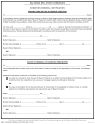 """""""Condition Removal Notification Form"""" - Oklahoma"""