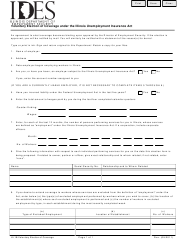 "Form UI-1B ""Voluntary Election of Coverage Under the Illinois Unemployment Insurance Act"" - Illinois"