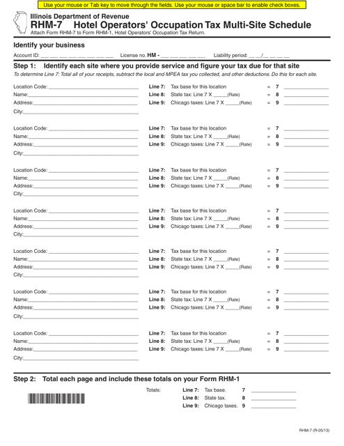 Form RHM-7  Printable Pdf