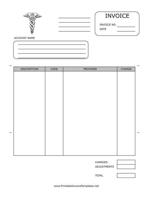 """Healthcare Invoice Template"" Download Pdf"