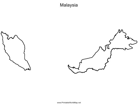 """Malaysia Map Template"" Download Pdf"