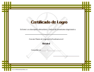 """Certificado Do Logro En Beisbol"" (Spanish)"