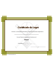 Certificado Do Logro En Beisbol