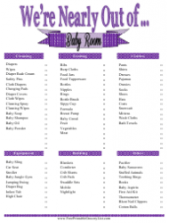 Baby Room Shopping List Template
