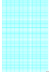 Cyan Graph Paper Template