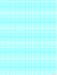 Cyan Semi-log Paper Template With 18 Divisions