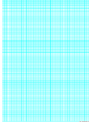 Cyan Semi-log Paper Template With 36 Divisions By 3-cycles