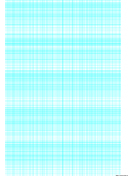 Cyan Semi-log Paper Template With 12 Divisions By 5-cycles