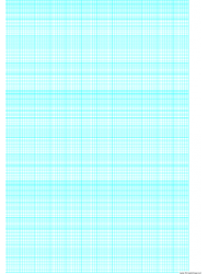 Cyan Semi-log Paper Template With 12 Divisions By 3-cycles