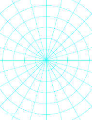 """Cyan Polar Graph Paper Template"""