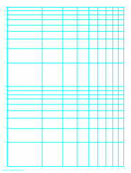 Cyan Log-log Paper Template (logarithmic Horizontal Axis On One Decade, Logarithmic Vertical Axis On Two Decades)