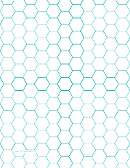 """Blue Hexagonal Graph Paper Template"""